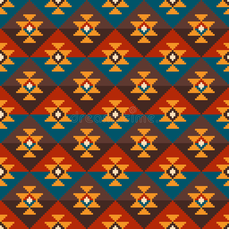 Tribal Aztec Style Seamless Geometric Pattern. Vector Illustration vector illustration