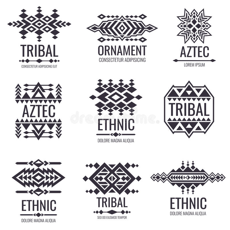 Tribal Aztec Vector Pattern. Indian Graphics For Tattoo ... Aztec Tribal Pattern Tattoos