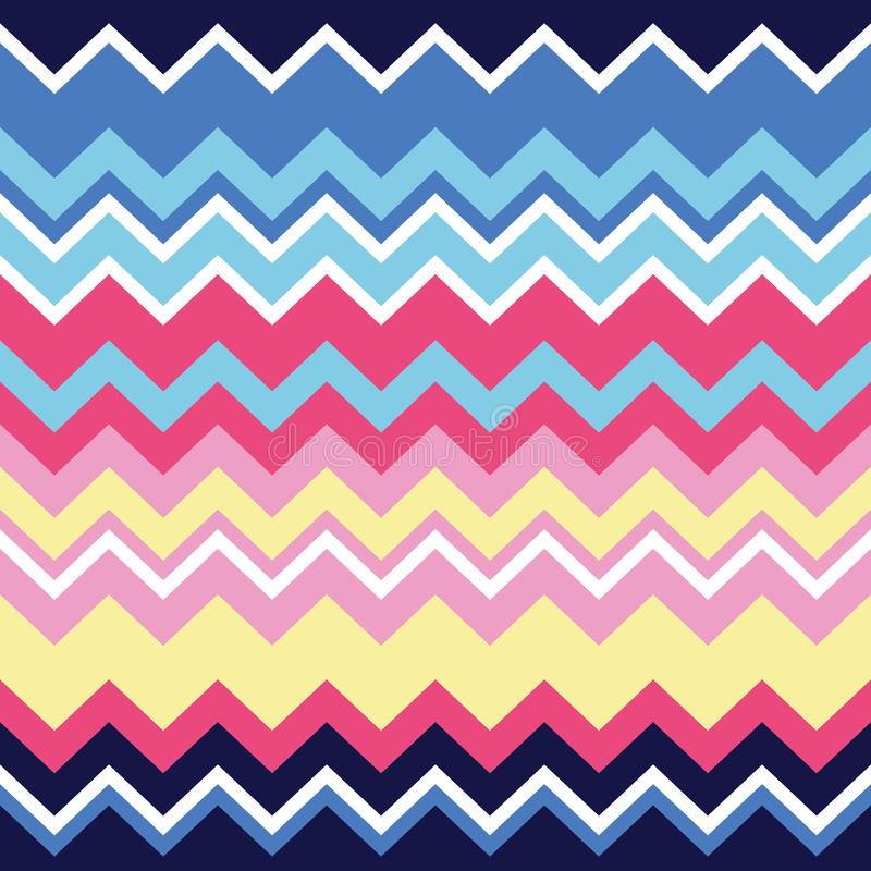 Tribal aztec zigzag seamless pattern, print royalty free illustration