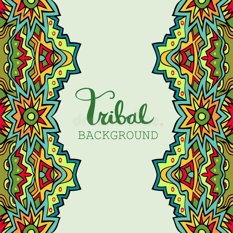 Free Tribal Background In Bright Colors. Royalty Free Stock Photo - 138440005