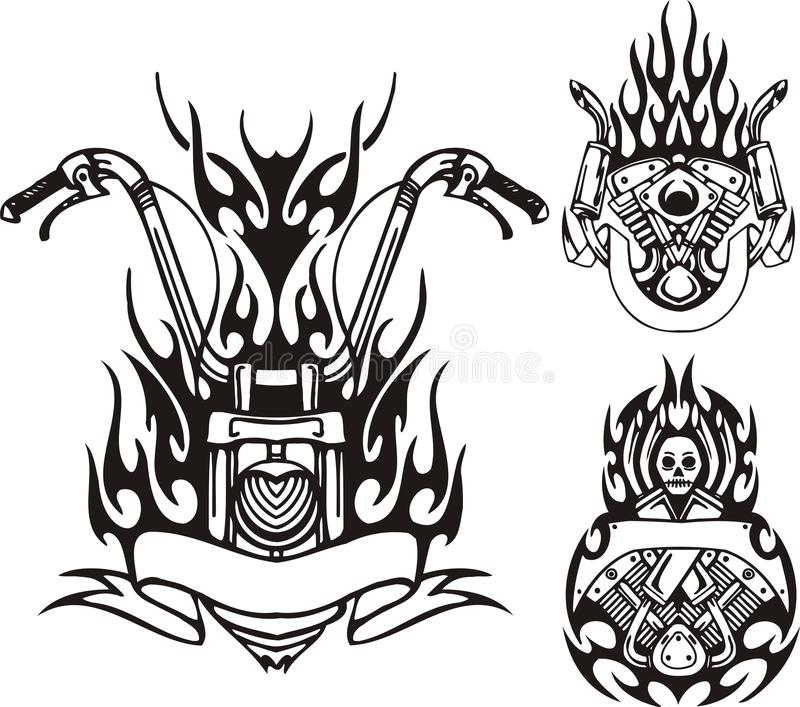 Download Tribal bikes. stock vector. Illustration of clipart, adornment - 18251932