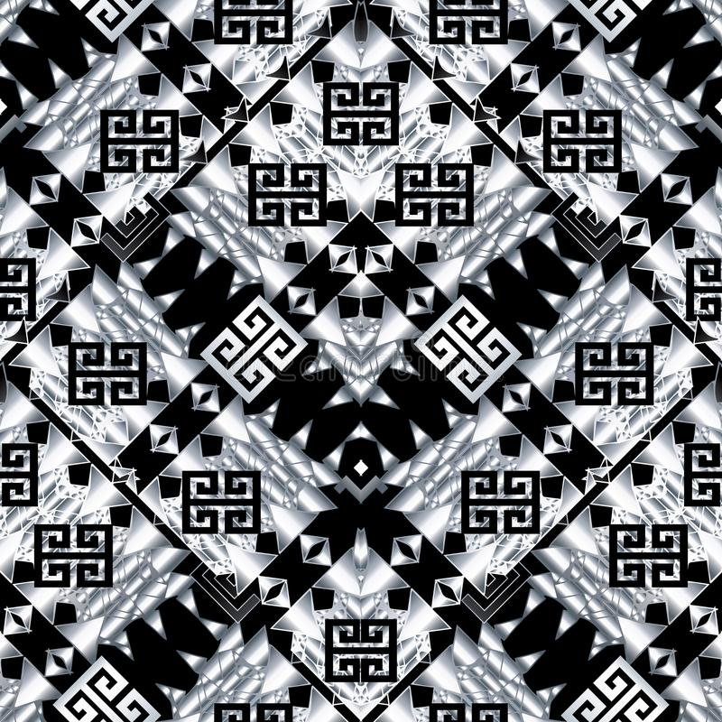 Download Tribal Black White Seamless Pattern Geometric Tribe Background Stock Vector