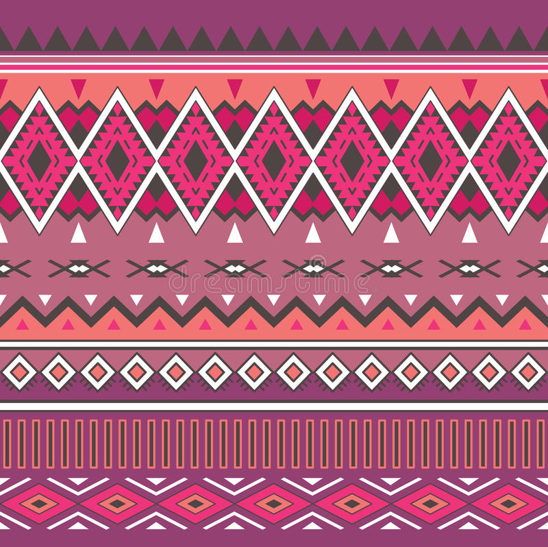 Tribal boho seamless pattern. Ethnic geometric ornament. Aztec print. Boho Vector Pattern. Fabric, Wallpaper and Wrapping Texture vector illustration