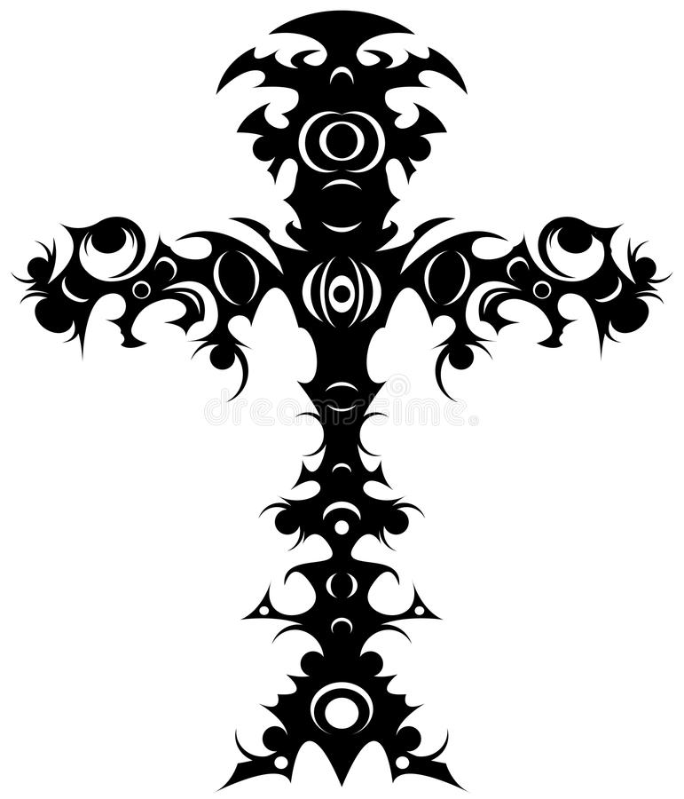 Download Tribal cross stock vector. Image of cross, illustration - 16158390