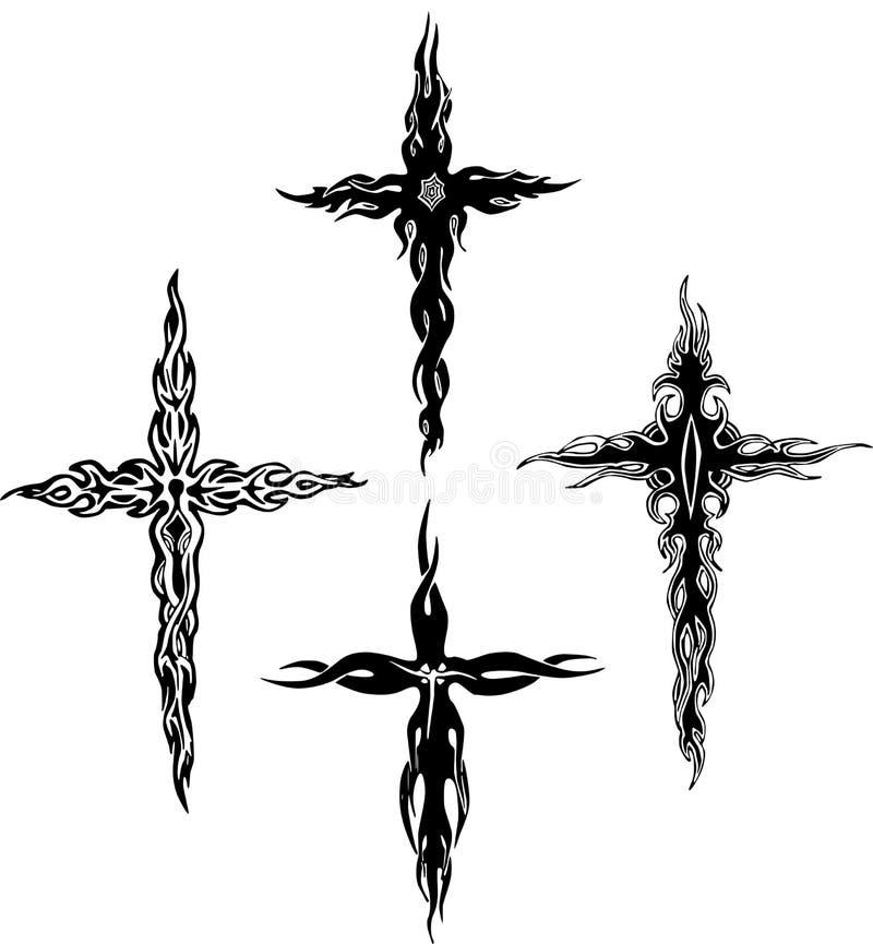 Download Tribal crosses stock vector. Illustration of white, cross - 24741467