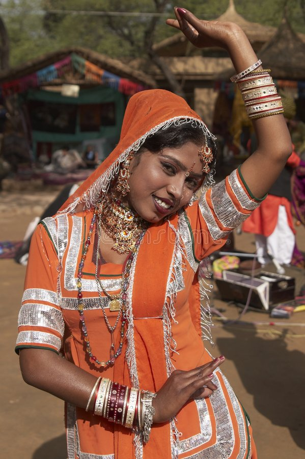 Download Tribal Dancer in Orange editorial photo. Image of perform - 8294271
