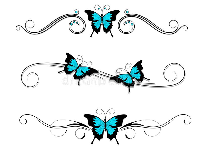 tribal de bleu de noir de tatouage de papillon illustration de vecteur illustration du tribal. Black Bedroom Furniture Sets. Home Design Ideas