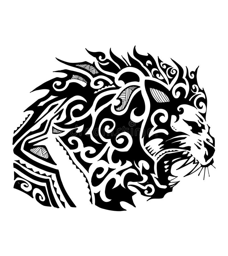 Tribal de lion illustration libre de droits