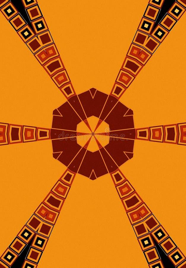 Or tribal de rouge de noir de configurations illustration stock