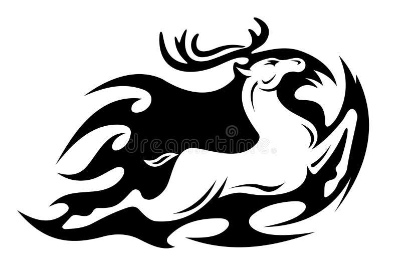 Download Tribal deer stock vector. Image of beauty, element, reindeer - 25320090