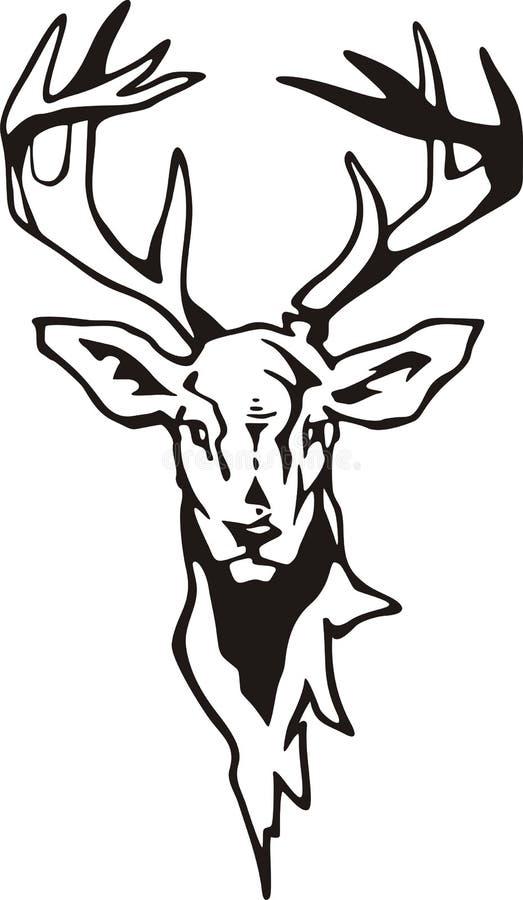 Download Tribal Deer stock illustration. Image of wildlife, decal - 8837663