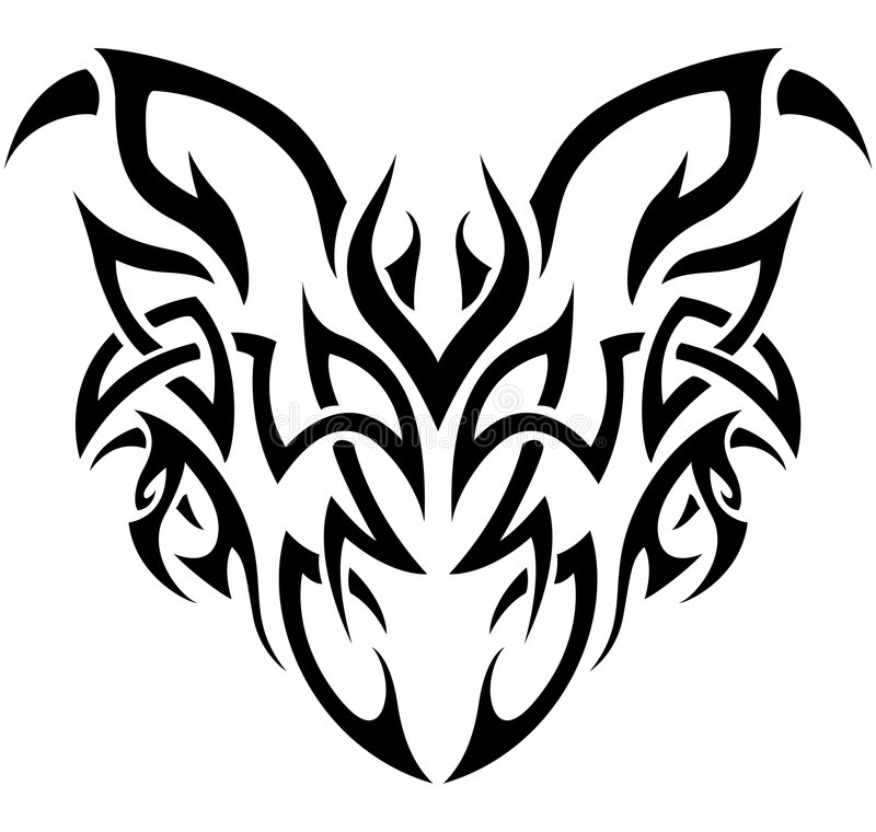 Download Tribal Demon In Black And White Stock Vector - Image: 7748063