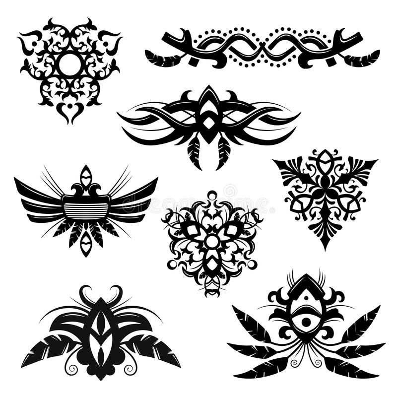 Tribal elements vector illustration