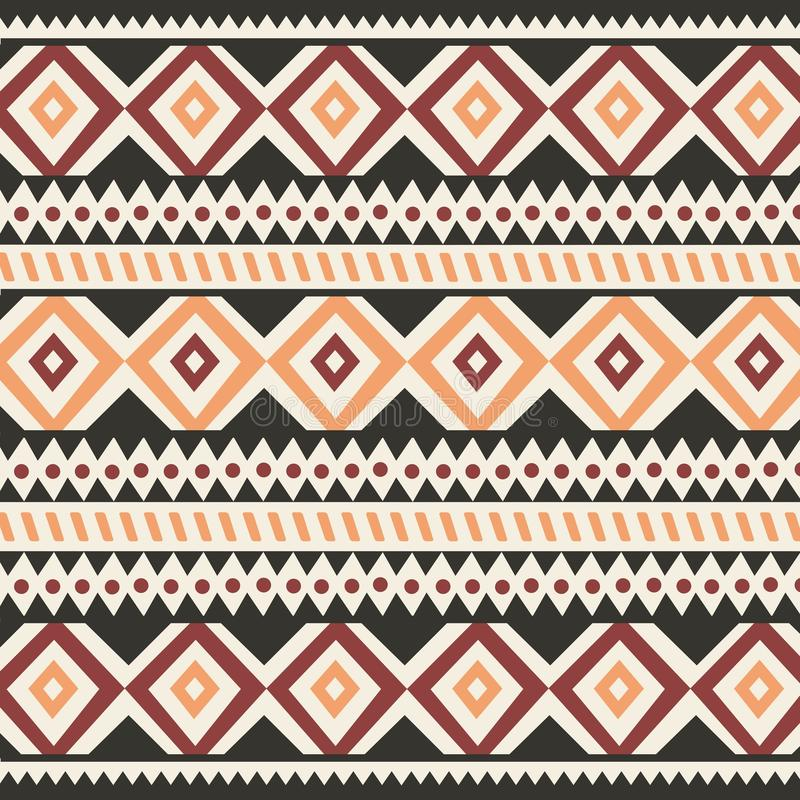 Tribal ethnic colorful bohemian pattern with geometric elements, African mud cloth, tribal design royalty free illustration