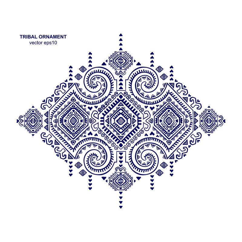 Tribal ethnic Mexican, African ornament. Tribal vector ethnic Mexican and African ornament. Textile design stock illustration