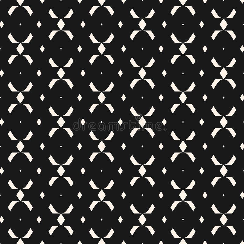 Tribal ethnic seamless pattern with simple geometric shapes, rhombuses, crosses. stock illustration