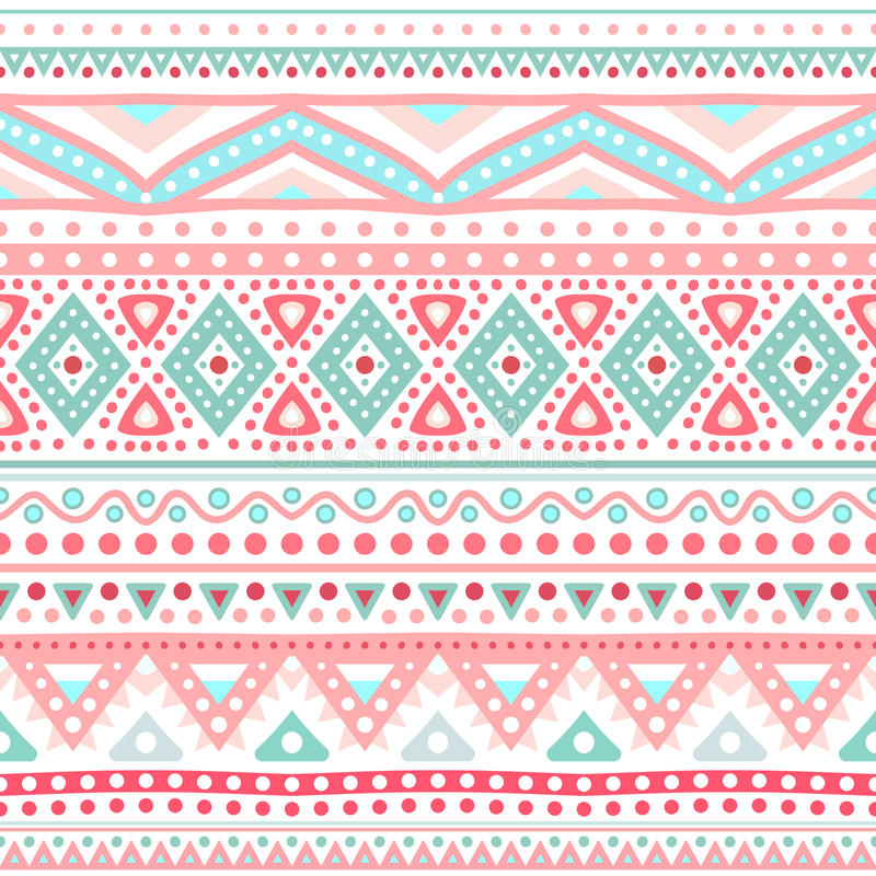 Tribal ethnic seamless stripe pattern. Vector vector illustration