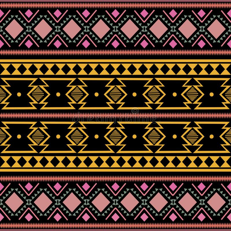 Tribal ethnic vintage colorful trendy seamless pattern vector illustration for fashion textile print aztec african style. Art design native geometric texture royalty free stock photo
