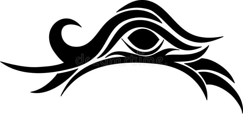 Tribal eye stock photo