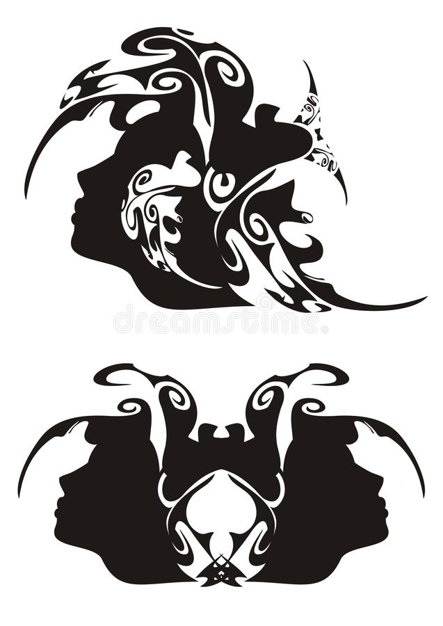 Download Tribal face stock vector. Illustration of beautiful, artwork - 23547513