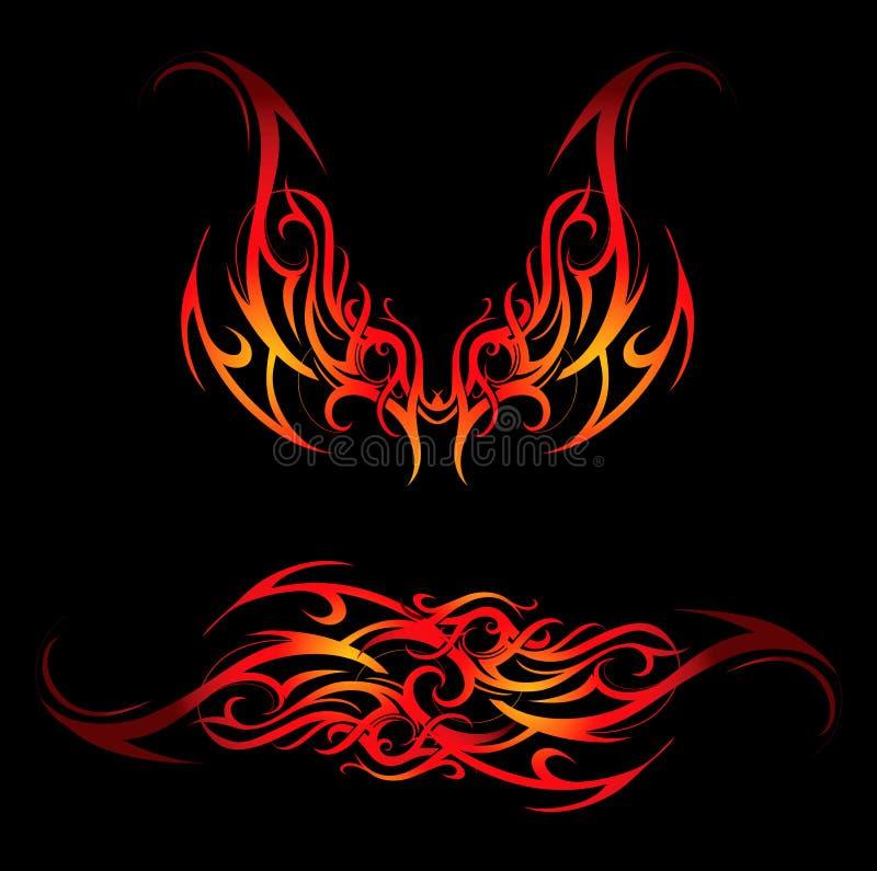 Tribal flames stock illustration