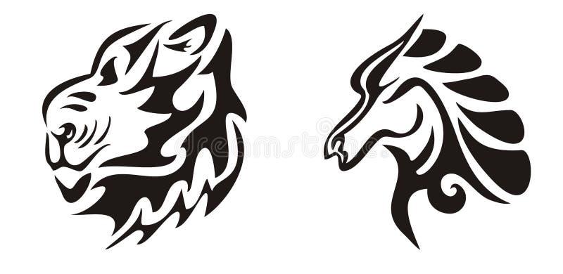 100 image for black lion tribal lion in tribal for Enemy tattoo everett