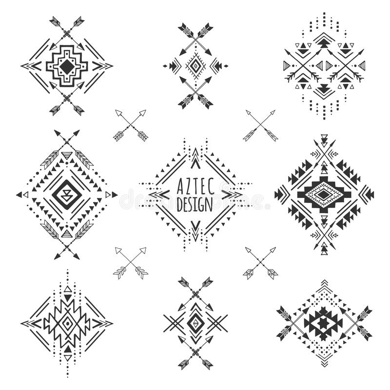 Tribal Geometric Symbols Stock Vector Illustration Of Graphic