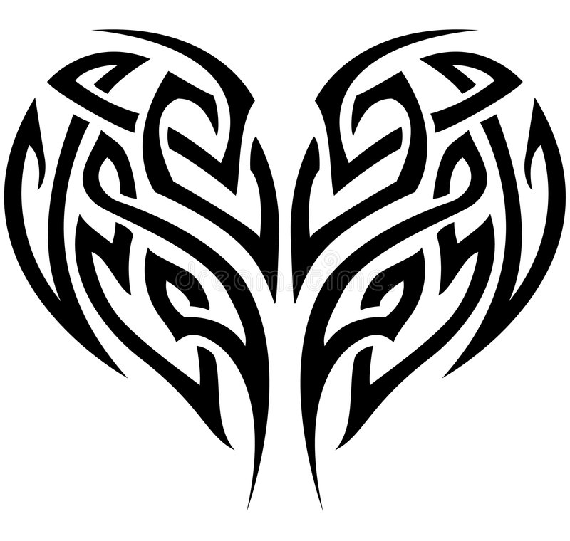 Download Tribal Heart stock vector. Image of element, isolated - 7259862
