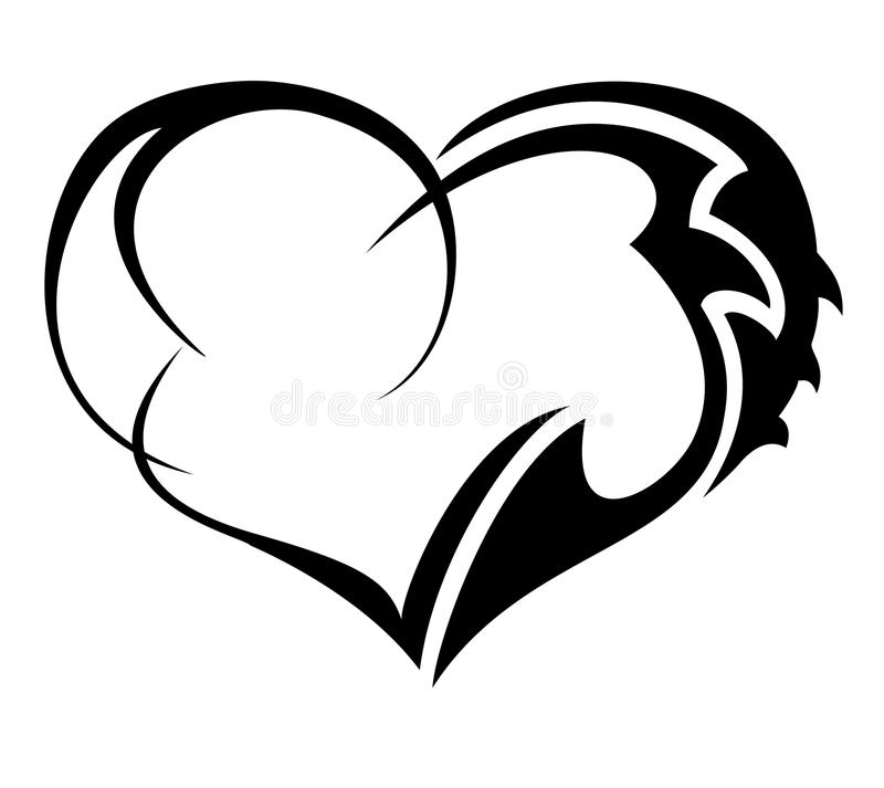 Tribal Heart stock illustration