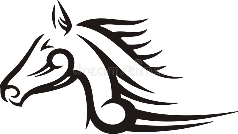 Tribal Horse royalty free stock images