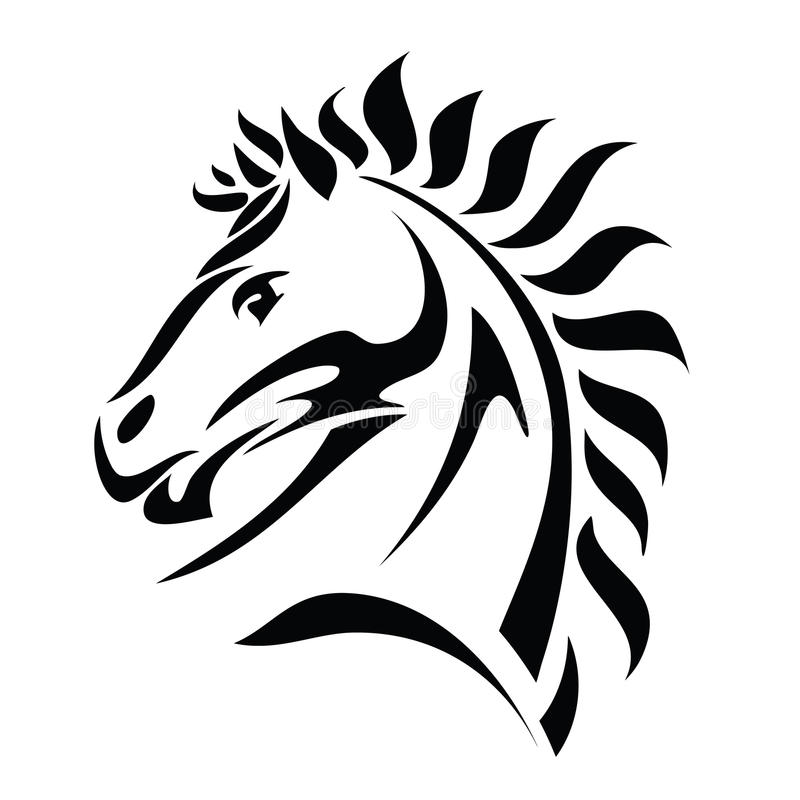 Download Tribal horse head tattoo stock vector. Image of mammal - 26503121