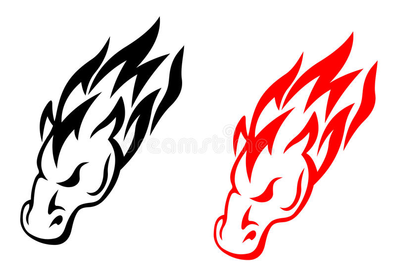 Download Tribal horse tattoo stock vector. Image of element, equine - 25218558