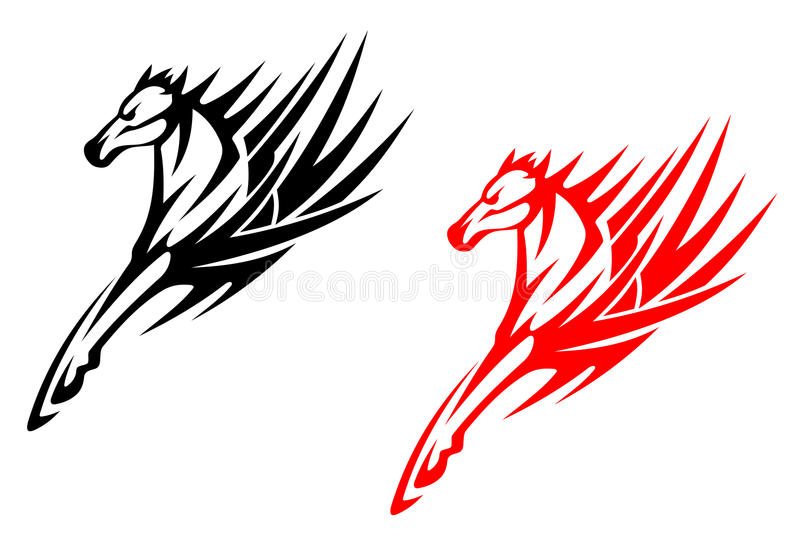 Download Tribal horses stock vector. Image of race, abstract, head - 25017662