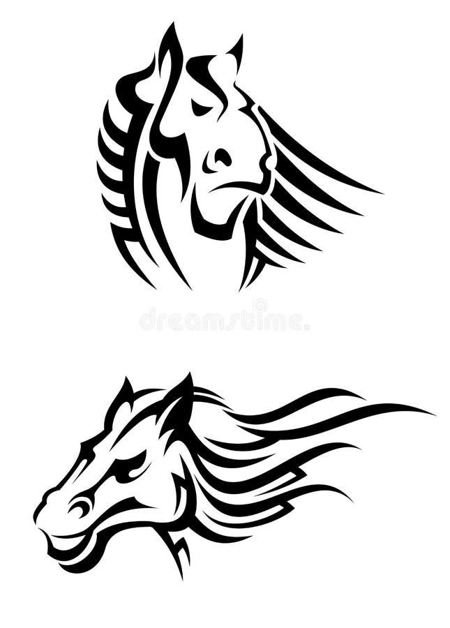 Download Tribal horses mascots stock vector. Illustration of hoof - 34915663
