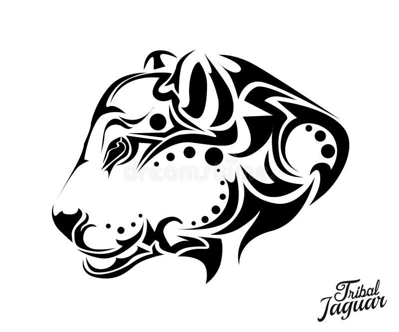 Line Drawing Jaguar : Tribal jaguar tattoo stock vector illustration of