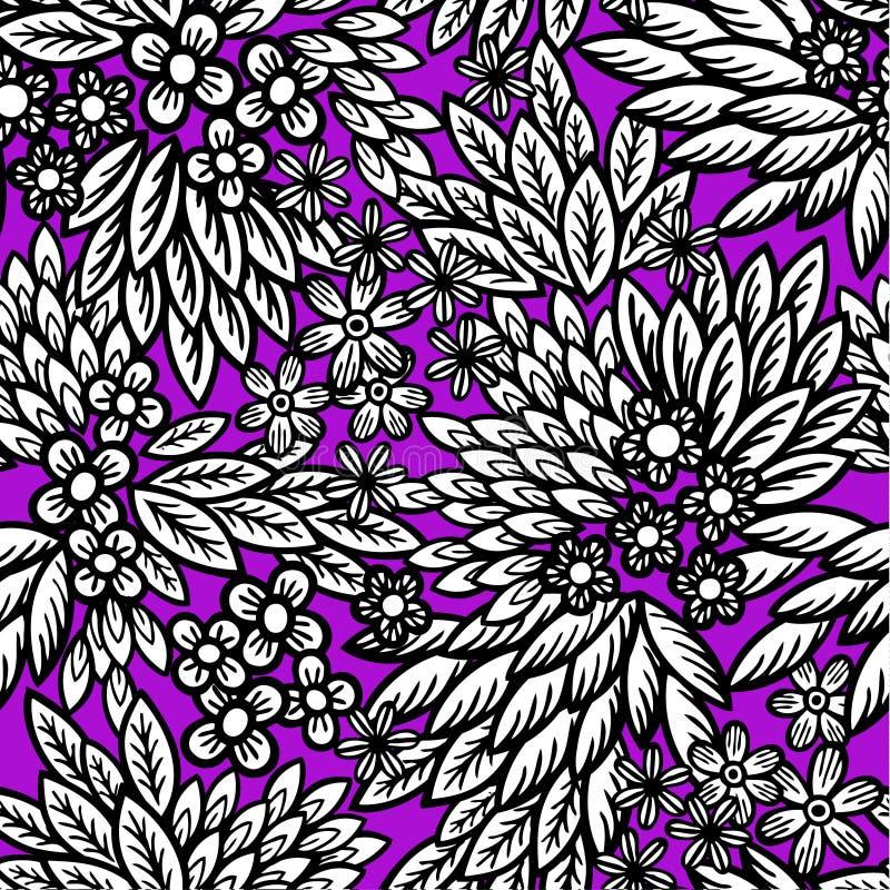 Download Tribal leaf floral stock vector. Image of geometric, ikat - 12846261