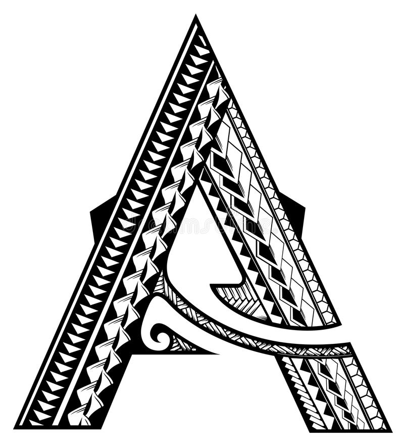 A - Tribal stock illustration