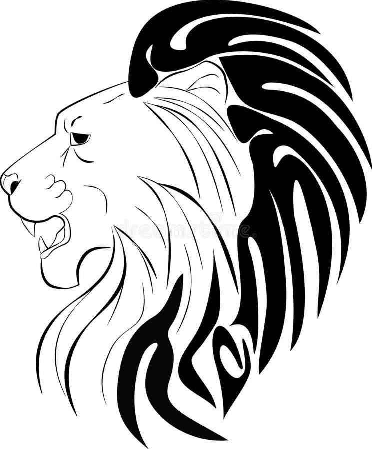 Lion Head Tribal stock illustration