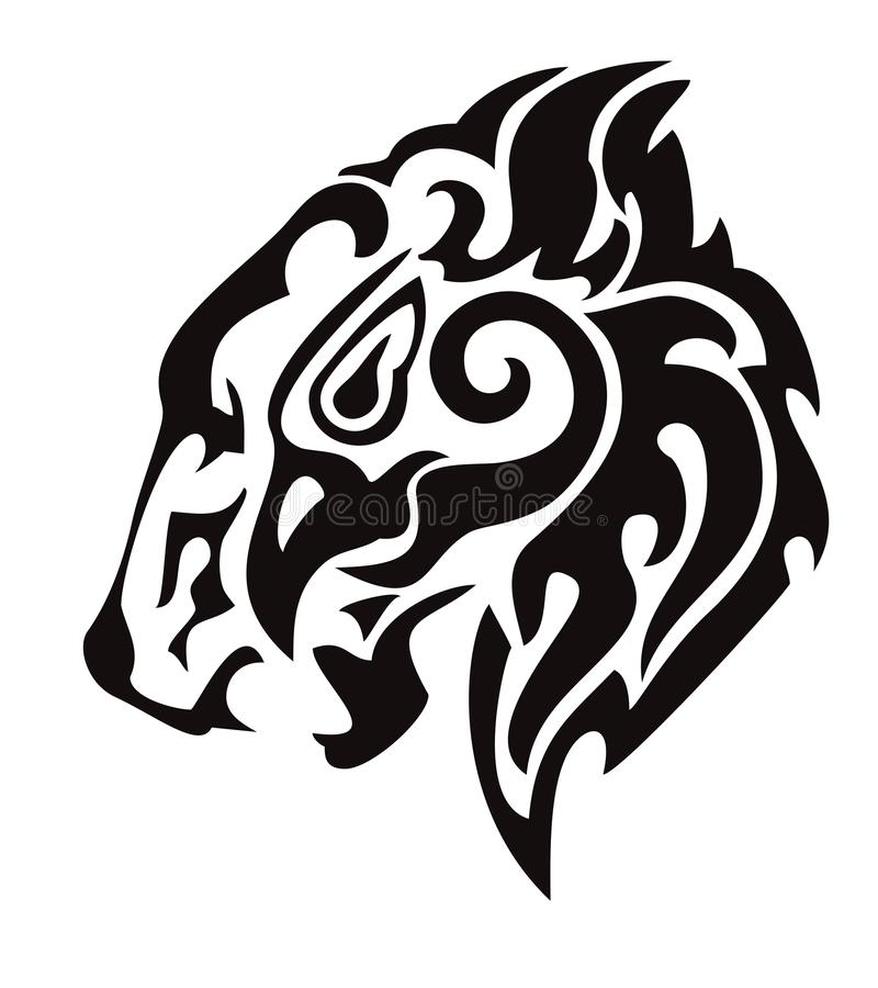 Tribal Lion Head Formed By The Head Of An Eagle Stock Vector ...
