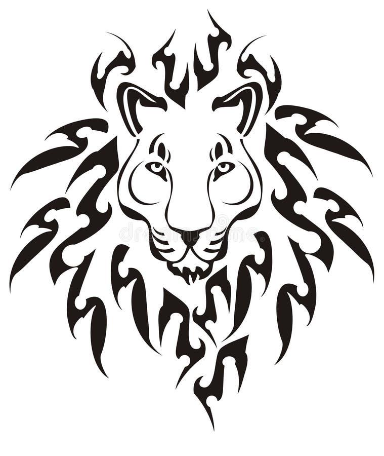 Tribal lion head, vector vector illustration