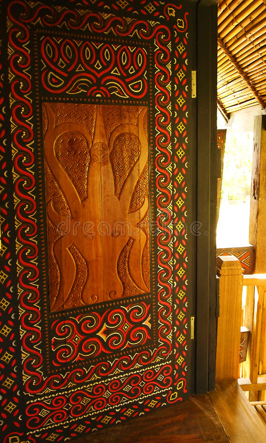 Tribal Indonesian ethnic art stock photography
