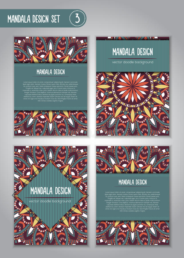 Tribal mandala design set. Vintage decorative elements. royalty free stock image
