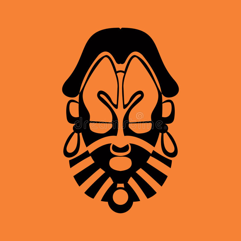 Tribal mask. Design, abstract art royalty free illustration