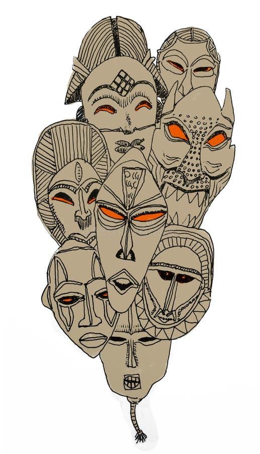 Tribal masks royalty free stock image