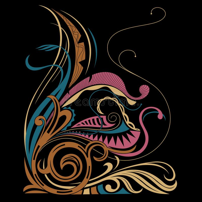 Batik Motive Stock Illustration. Illustration Of