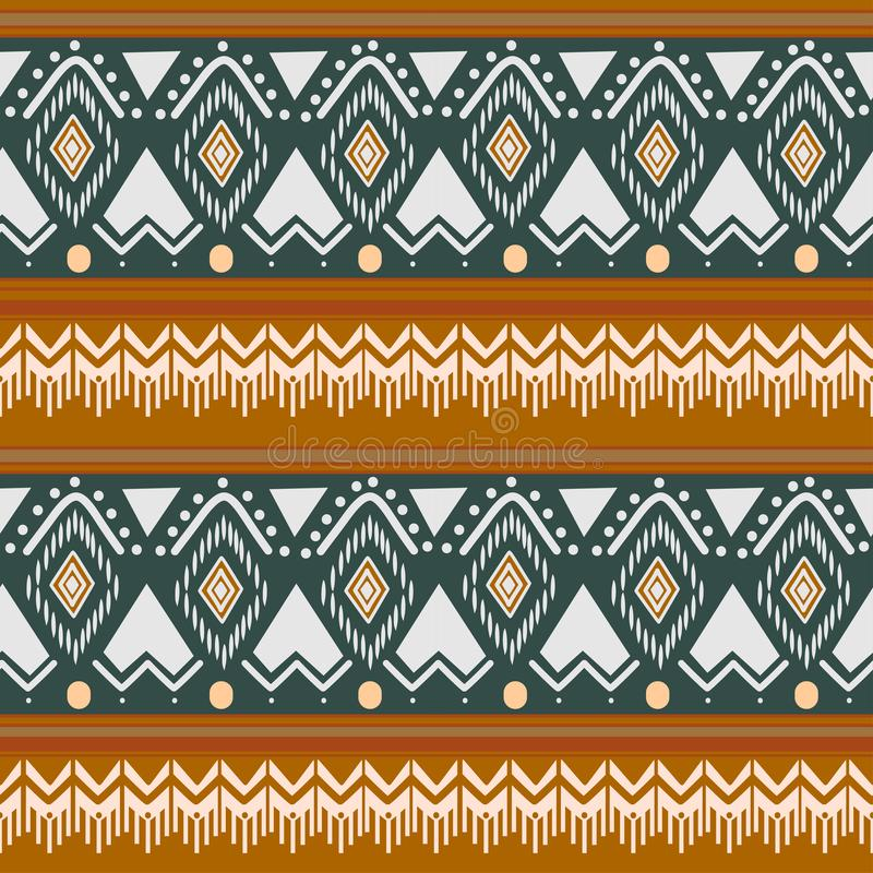 Tribal Navajo vector seamless pattern. aztec fancy abstract geometric art print. ethnic hipster backdrop for wallpaper, cloth. Design, fabric, paper, cover vector illustration