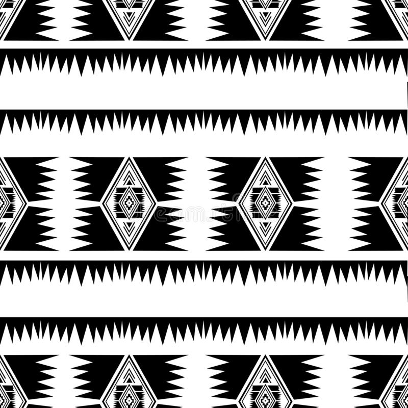 Tribal Navajo vector seamless pattern with hand drawn motifs drawing handmade design textile fashion wrapping ready for print vector illustration
