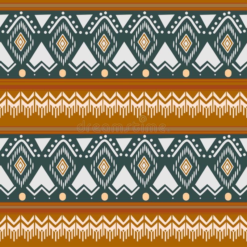 Tribal Navajo Vektor nahtlos Muster Azteken-Kunstdruck ethnischer Hipster-Hintergrund für Tapeten, Tuch vektor abbildung