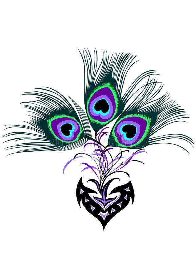 tribal peacock tattoo stock vector illustration of icon 65281423. Black Bedroom Furniture Sets. Home Design Ideas