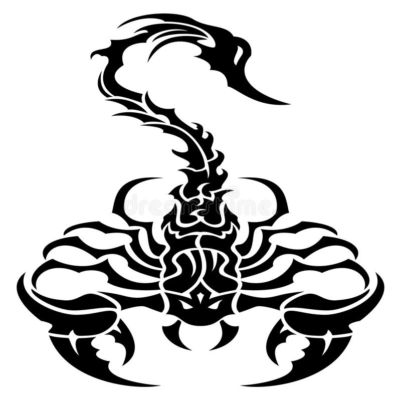 tribal scorpion tattoo stock illustration illustration of